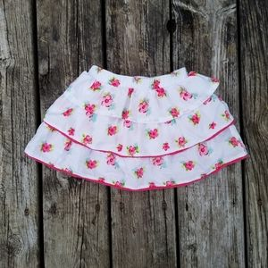 New girls Oshkosh floral tiered ruffle skirt skort